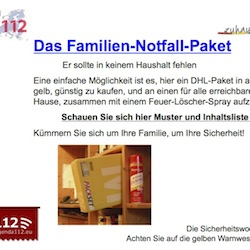 Familien-Notfall-Paket